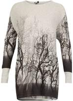 Izabel London *Izabel London Grey Forest Print Top
