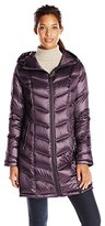 Calvin Klein Women's Mid-Length Packable Chevron Down Coat
