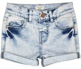 River Island Mini girls acid wash denim shorts