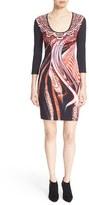 Just Cavalli Women's Print Scoop Neck Jersey Dress