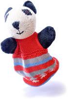 ChunkiChilli Hand Knitted Organic Cotton Panda Puppet