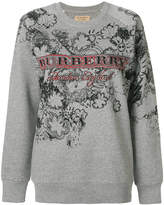 Burberry logo detail illustrated sweatshirt