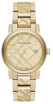 Burberry Check-Stamped Silvertone Bracelet Watch, BU9038