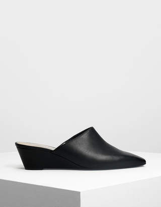 Charles & Keith Closed Toe Low Wedge Mules