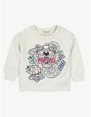 Kenzo Floral tiger cotton sweatshirt 6-36 months