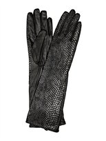 Carolina Amato Printed Snake Leather Glove