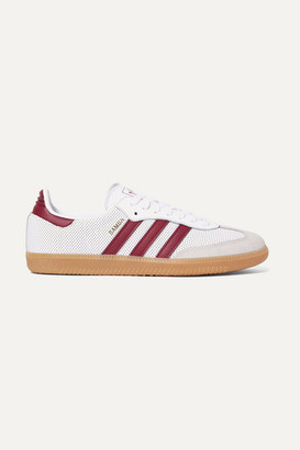 adidas Samba Og Perforated Leather And Suede Sneakers - White