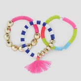Cat & Jack Girls' 3-Pack Tassel Bracelet Set Cat & Jack - Multi-Colored