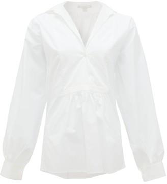 Freya White Story Cotton-poplin Shirt - Womens - White
