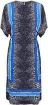 Jaeger Scarf Print Midi Silk Dress