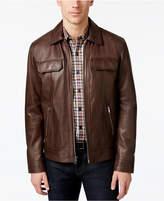 Tasso Elba Men's Genuine Leather Jacket, Only at Macy's