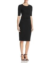 Armani Collezioni Double Decorative-Belt Detail Dress