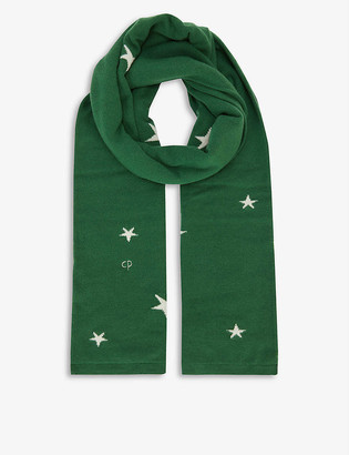Chinti and Parker Star-print cashmere scarf
