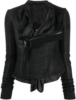 Rick Owens Tecuatl layered biker jacket