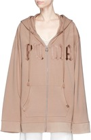 FENTY PUMA by Rihanna Logo embroidered oversized zip hoodie with harness