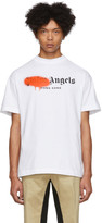 Palm Angels White Hong Kong Sprayed T-Shirt