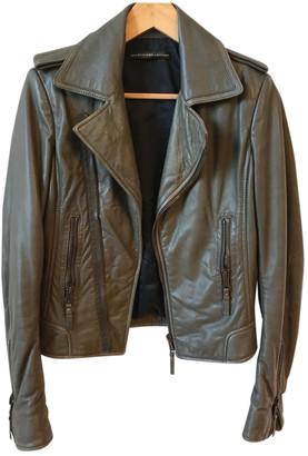 Balenciaga Khaki Leather Leather jackets