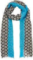 Barneys New York MEN'S FLORAL LINEN-BLEND SCARF