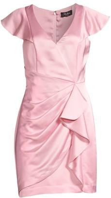 Gertie Draped Satin Dress