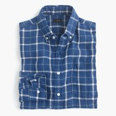 J.Crew Slim indigo linen shirt in plaid