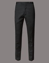 Autograph Wool Blend Slim Fit Flat Front Chinos With Buttonsafetm