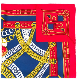 Hermes Silk Scarf Maillons 70s