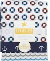 Baby Boom Bananafish Studio Anchors Aweigh Receiving Blankets, 3pk by Bananafish Studio Anchors Aweigh Receiving Blankets, 3pk