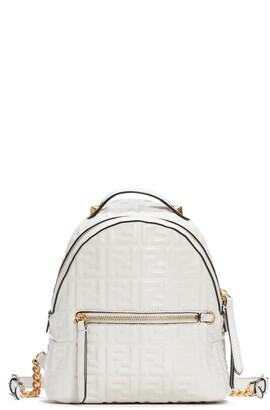 Fendi FF Embossed Logo Leather Backpack