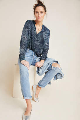 Cloth & Stone Tie-Dyed Leopard Blouse