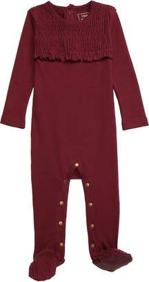 L'ovedbaby Organic Cotton Smocked Footie