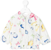 MonnaLisa butterfly print hooded jacket - kids - Polyamide/Polyester - 3 mth