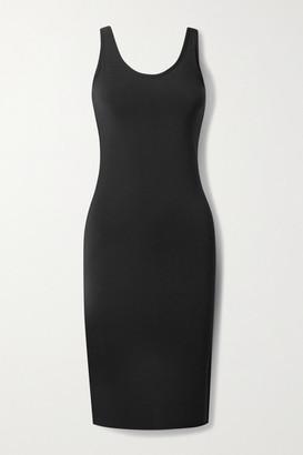 Commando Butter Open-back Stretch-modal Midi Dress - Black