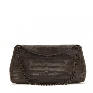 Nancy Gonzalez Brown Crocodile Clutch bags