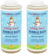 California Baby Bubble Bath Holiday Vanilla Orange and Lavender - 13 fl oz (2 Pack)