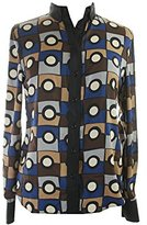 Anne Klein Women's Citta Print Long Sleeve Blouse
