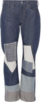 Junya Watanabe Patchwork low-rise boyfriend jeans
