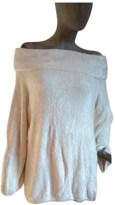 Alaia White Linen Knitwear for Women Vintage