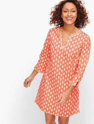Talbots Cotton Beach Tunic - Pineapple Print