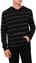Bassike Stripe Jersey Hooded L/S Tee