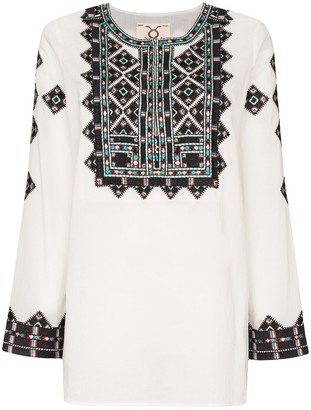 Figue Iris embroidered tunic top