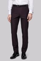 Moss Bros Skinny Fit Plum Jacquard Dress Trousers