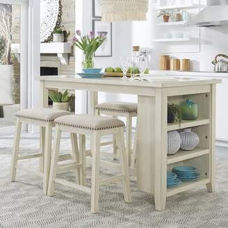 Ophelia & Co. Dardanelle 5 Piece Counter Height Breakfast Nook Dining Set & Co. Color: White