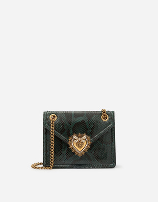 Dolce & Gabbana Medium Devotion Bag In Python Skin