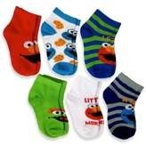 Sesame Street 6-Pack Elmo Boys Quarter Socks in Assorted Designs