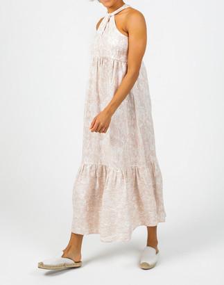 Madewell Lanhtropy Organic Linen Knot Maxi Dress