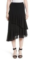 Fuzzi Women's Ruffle Tulle Midi Skirt