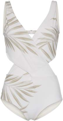 Johanna Ortiz Grassland Open Back Printed Swimsuit