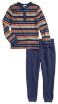 Splendid Boy's Stripe Henley Top & Sweatpants