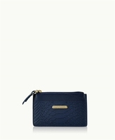 GiGi New York Mini Zip Card Case Embossed Python