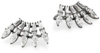 Adriana Orsini Tivoli Ruthenium-Plated Sterling Silver & Cubic Zirconia Eyelash Climber Earrings